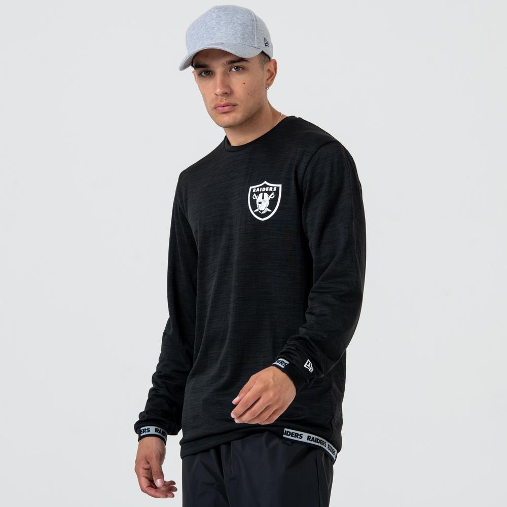 Oakland Raiders – Longsleeve mit Logo – Engineered – Schwarz