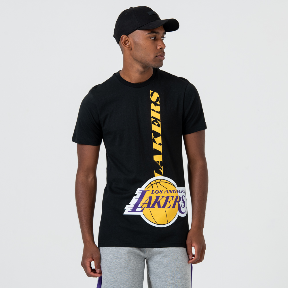 T-shirt Los Angeles Lakers noir à logo