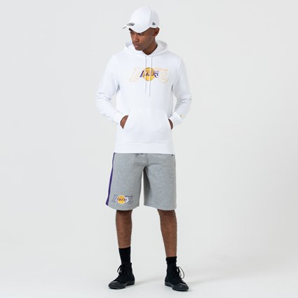 Los Angeles Lakers White Pullover Hoodie