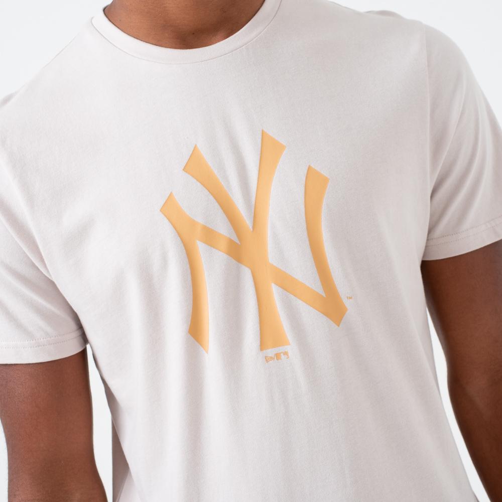 T-shirt con logo dei New York Yankees in grigio pietra