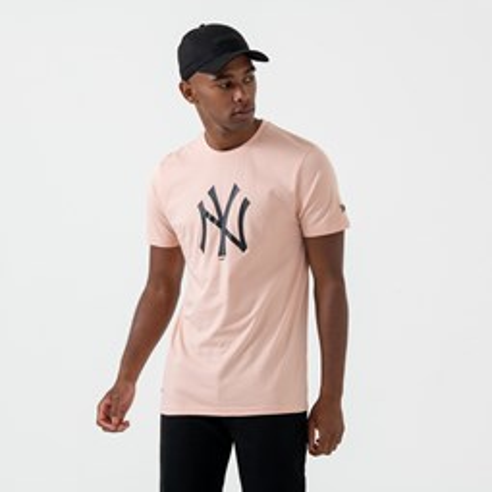 T-shirt New York Yankees Logo Pink