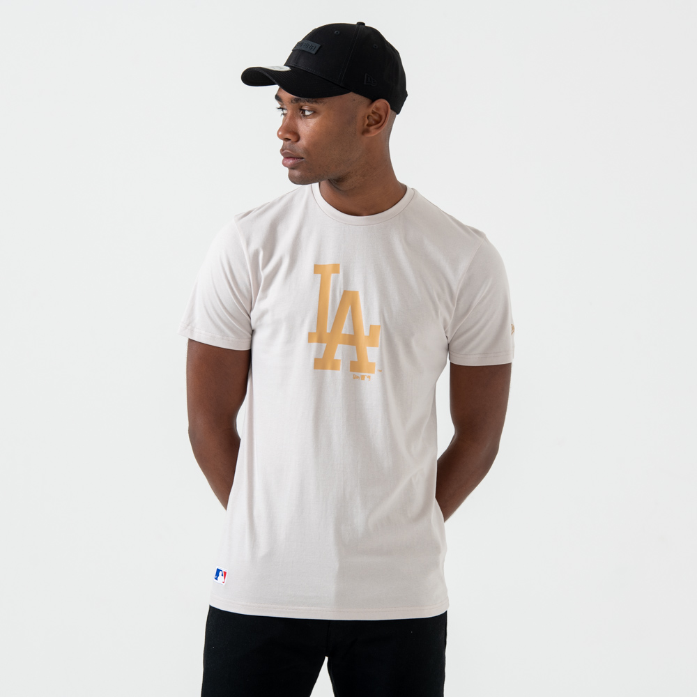T-shirt Los Angeles Dodgers grège à logo