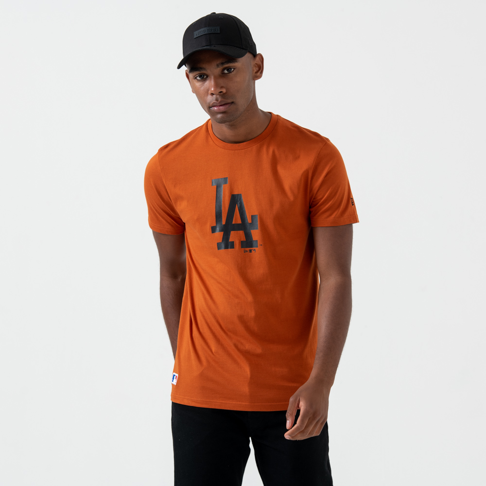 Los Angeles Dodgers – T-Shirt mit Logo – Rostrot
