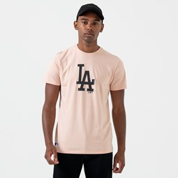 Camiseta Los Angeles Dodgers Logo, rosa