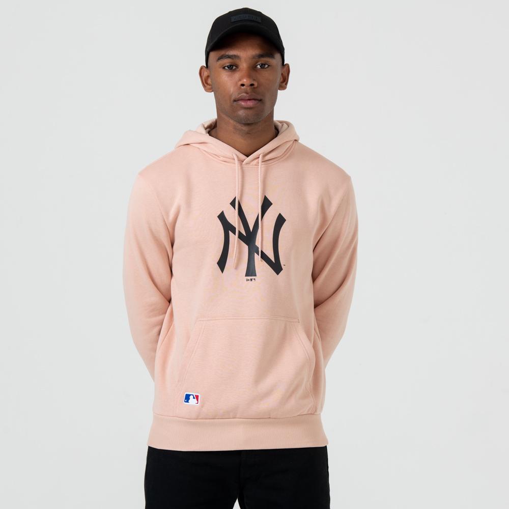 Sweat à capuche New York Yankees rose à logo