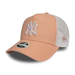 New York Yankees Essential Trucker A-Frame rose pâle femme