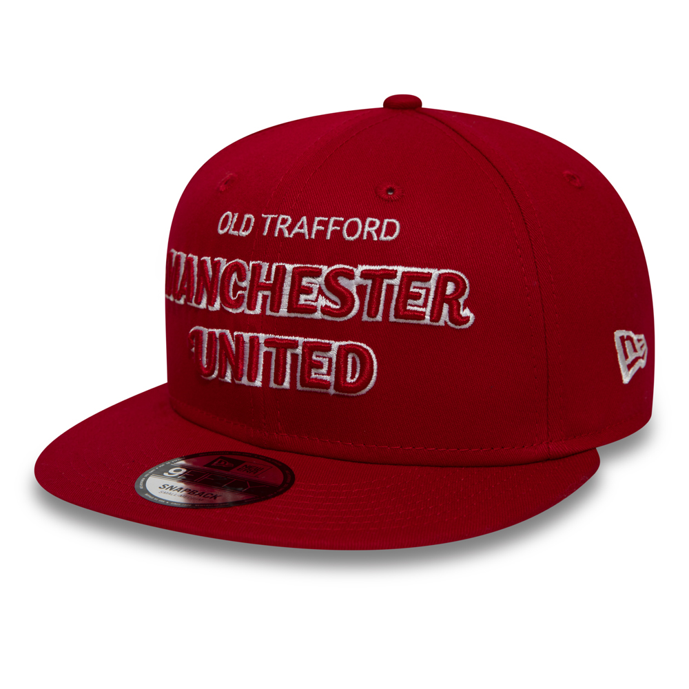Manchester United Script Red 9FIFTY SNAPBACK