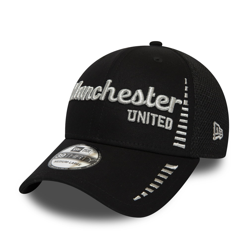 3b466640 Manchester United Script Black Stretch 39THIRTY