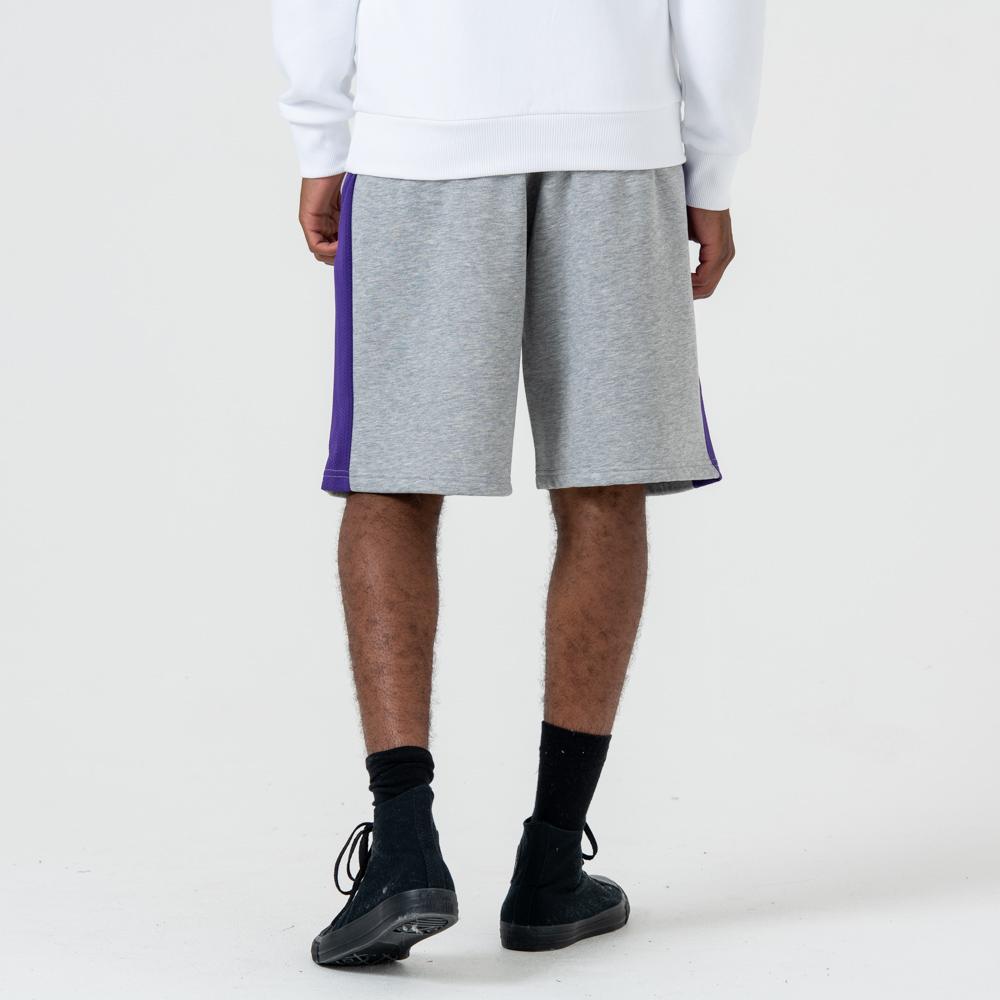 Short Los Angeles Lakers gris à logo