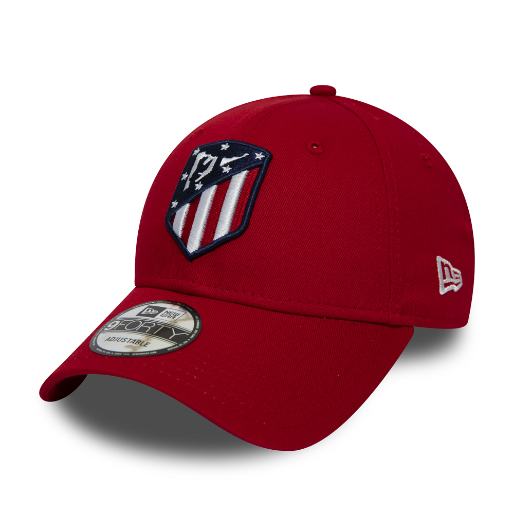 Atletico Madrid Essential 9FORTY rouge avec logo
