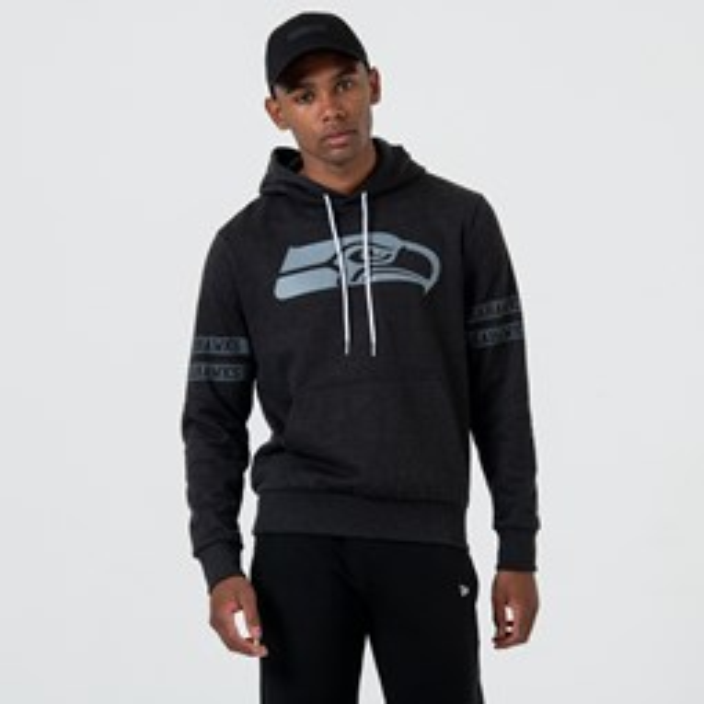 Sudadera estilo pulóver Seattle Seahawks Logo, negro