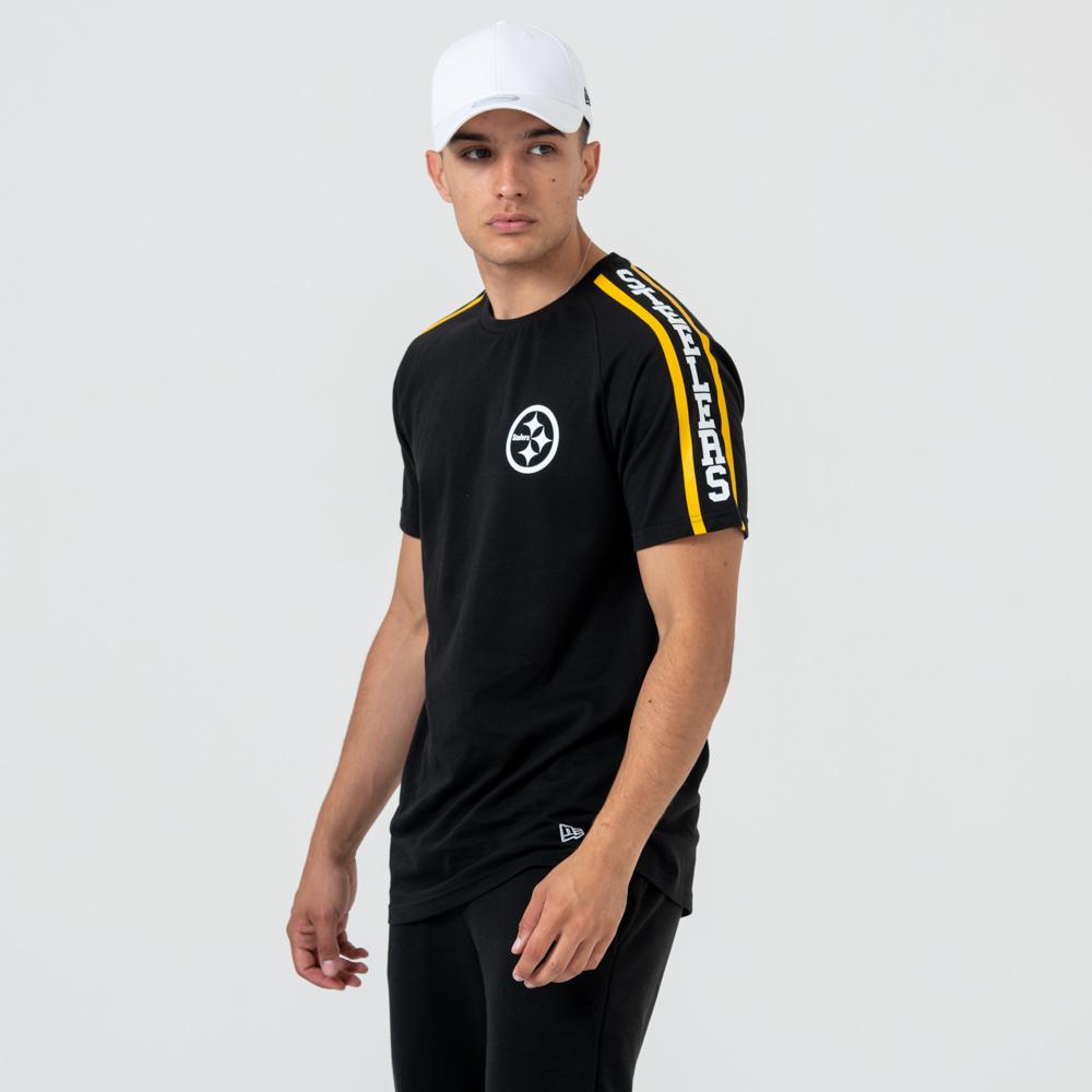 Pittsburgh Steelers Logo Shoulder Print – T-Shirt – Schwarz