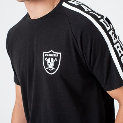 Oakland Raiders Logo Shoulder Print Black Tee