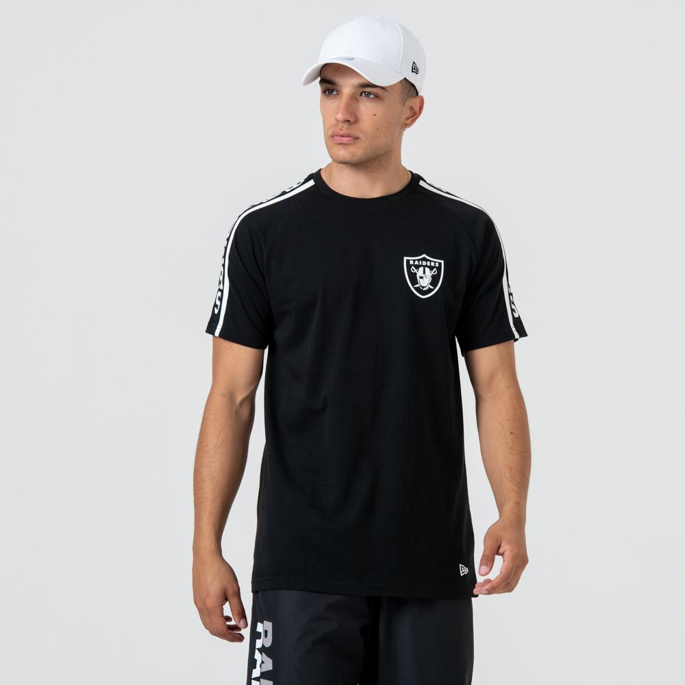 Oakland Raiders Logo Shoulder Print – T-Shirt – Schwarz