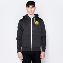 Pittsburgh Steelers Logo Black Zip Hoodie