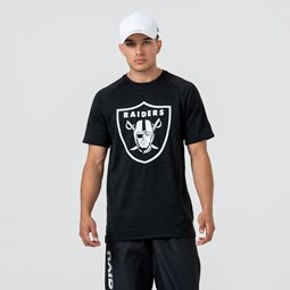 Oakland Raiders – T-Shirt mit Logo – Engineered – Schwarz