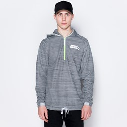 Seattle Seahawks Logo Engineered Grey Half Zip Hoodie