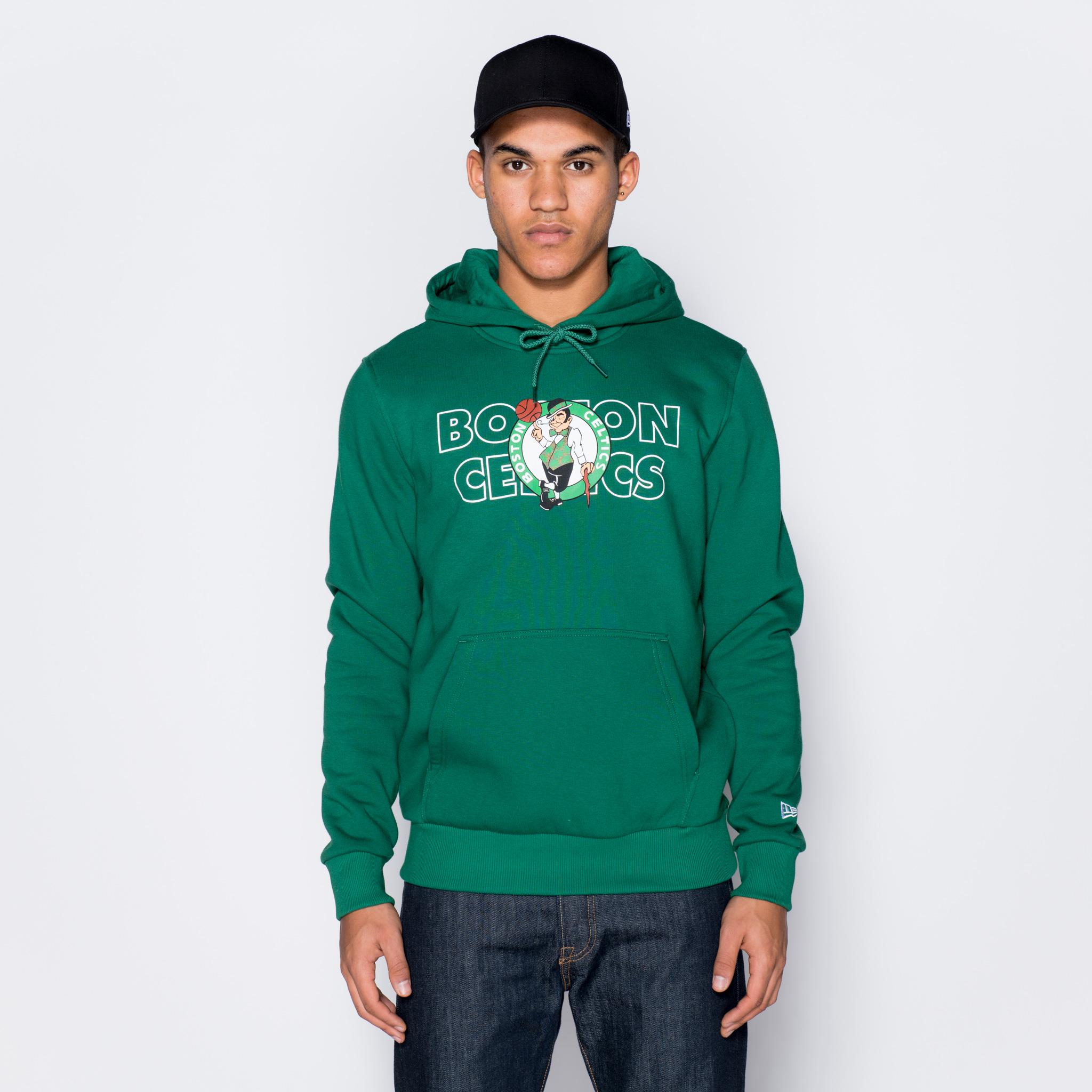 Sweat à capuche vert avec logo des Boston Celtics