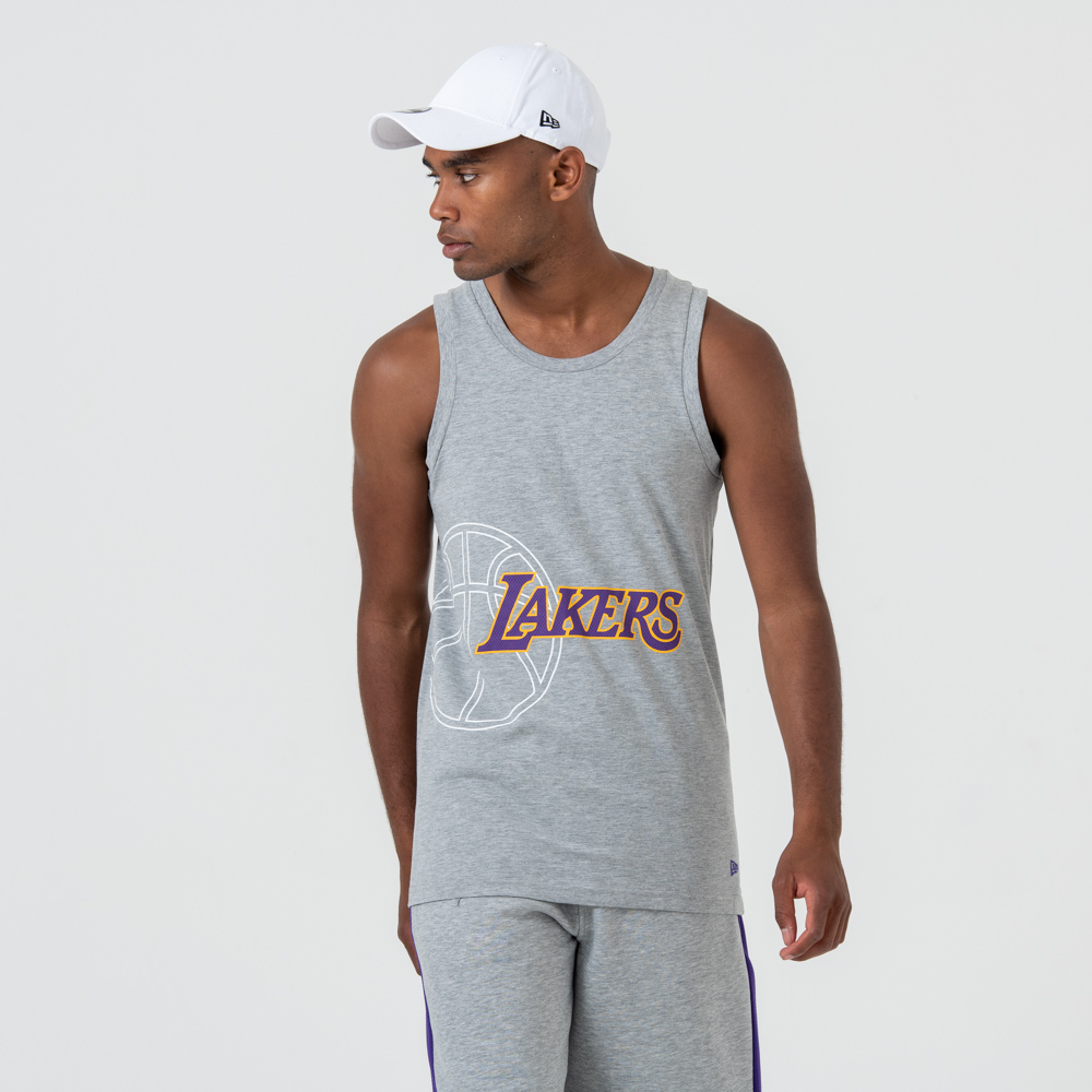 Débardeur Los Angeles Lakers gris à logo
