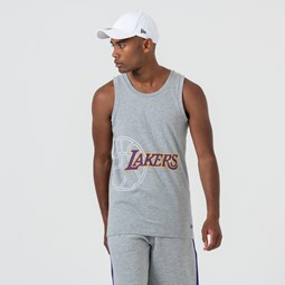 Camiseta de tirantes Los Angeles Lakers  Logo, gris