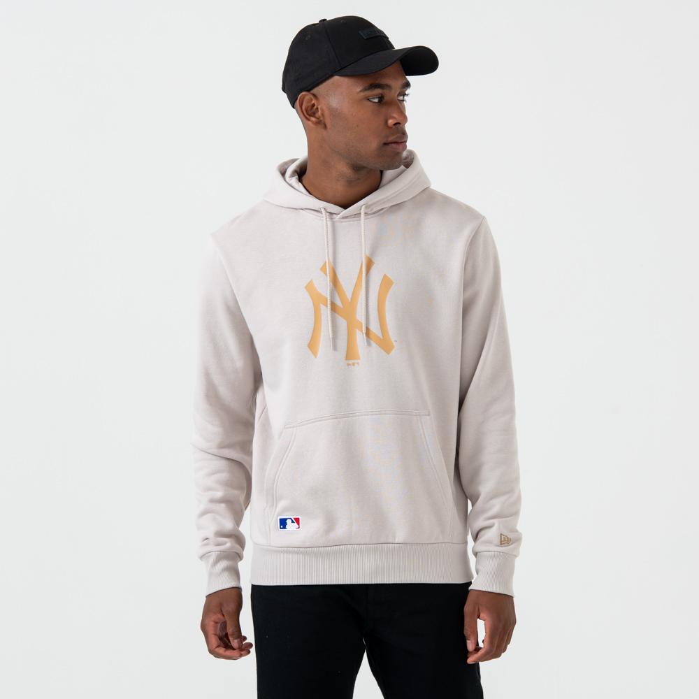 New York Yankees – Pullover-Hoodie mit Logo – Steingrau