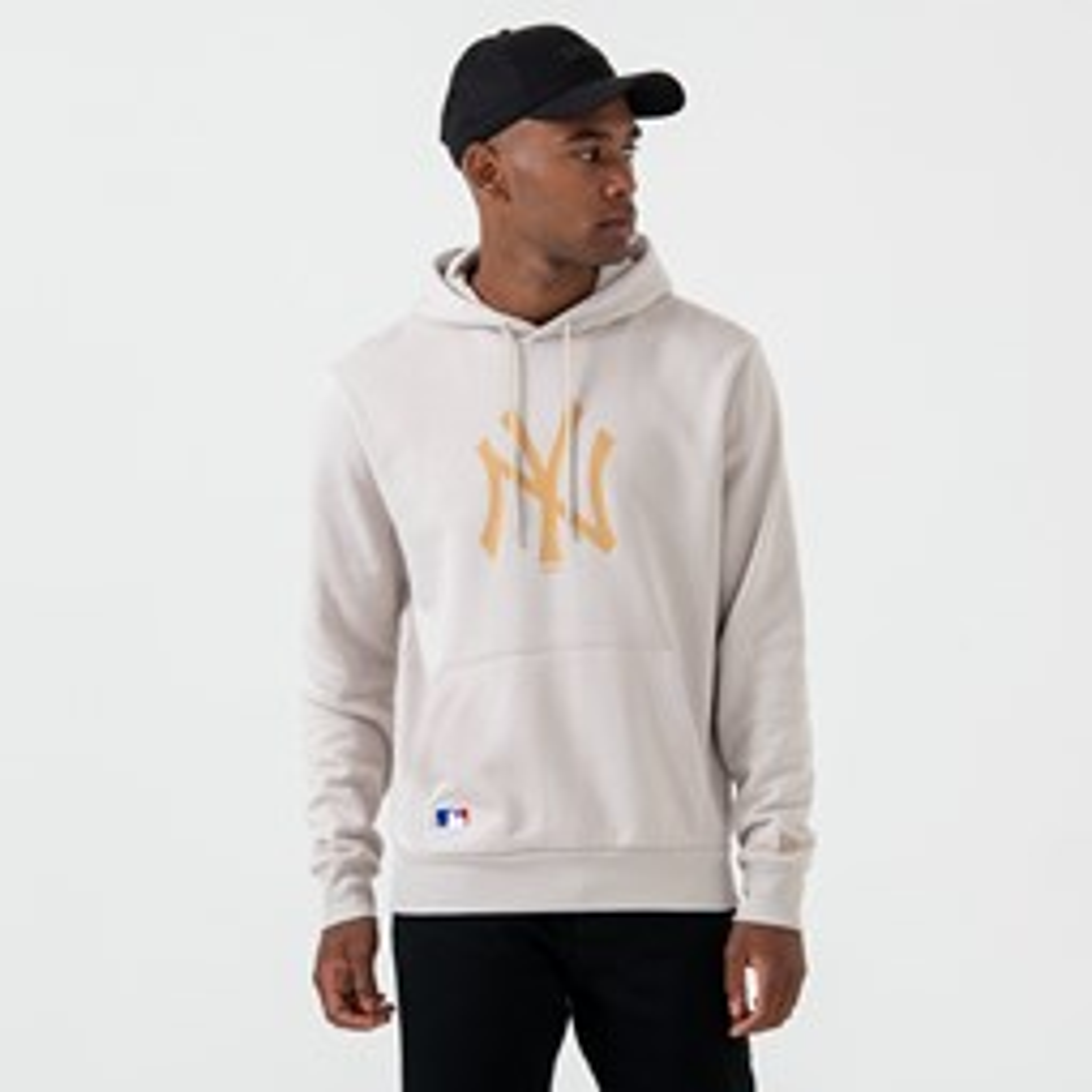 Sweat à capuche grège des New York Yankees avec logo