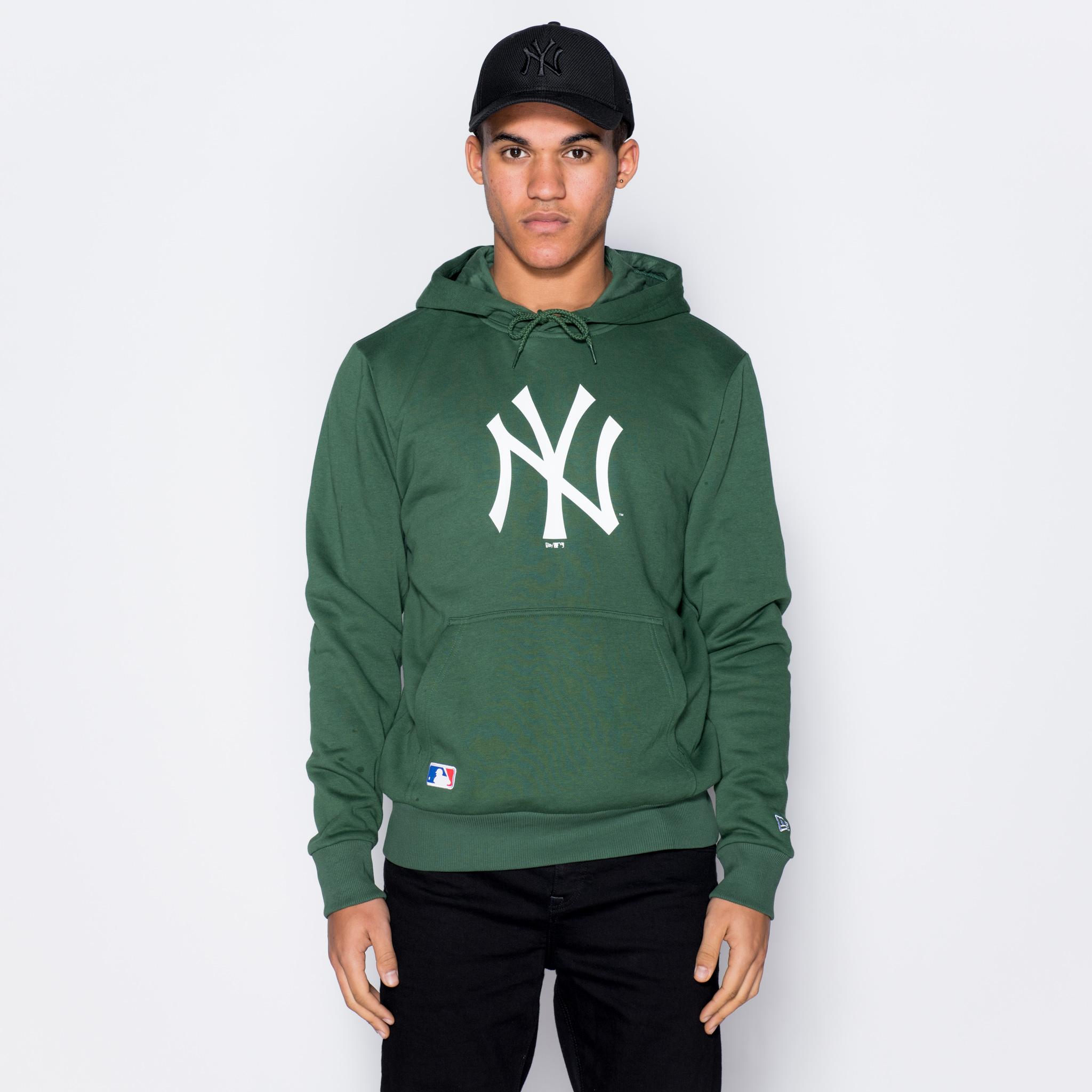 Sweat à capuche des New York Yankees vert avec logo