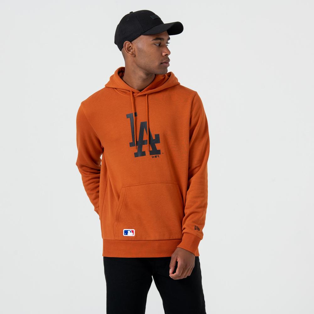 Felpa chiusa con cappuccio Los Angeles Dodgers Logo Rust