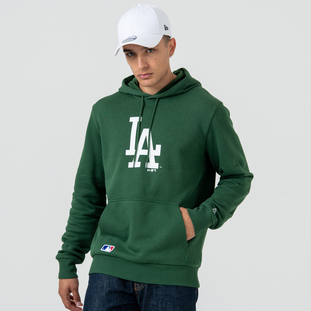 Felpa chiusa con cappuccio Los Angeles Dodgers Logo Green