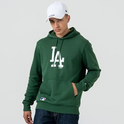 Los Angeles Dodgers Logo Green Pullover Hoodie