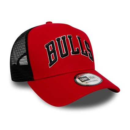 Chicago Bulls Reverse Red A Frame Trucker