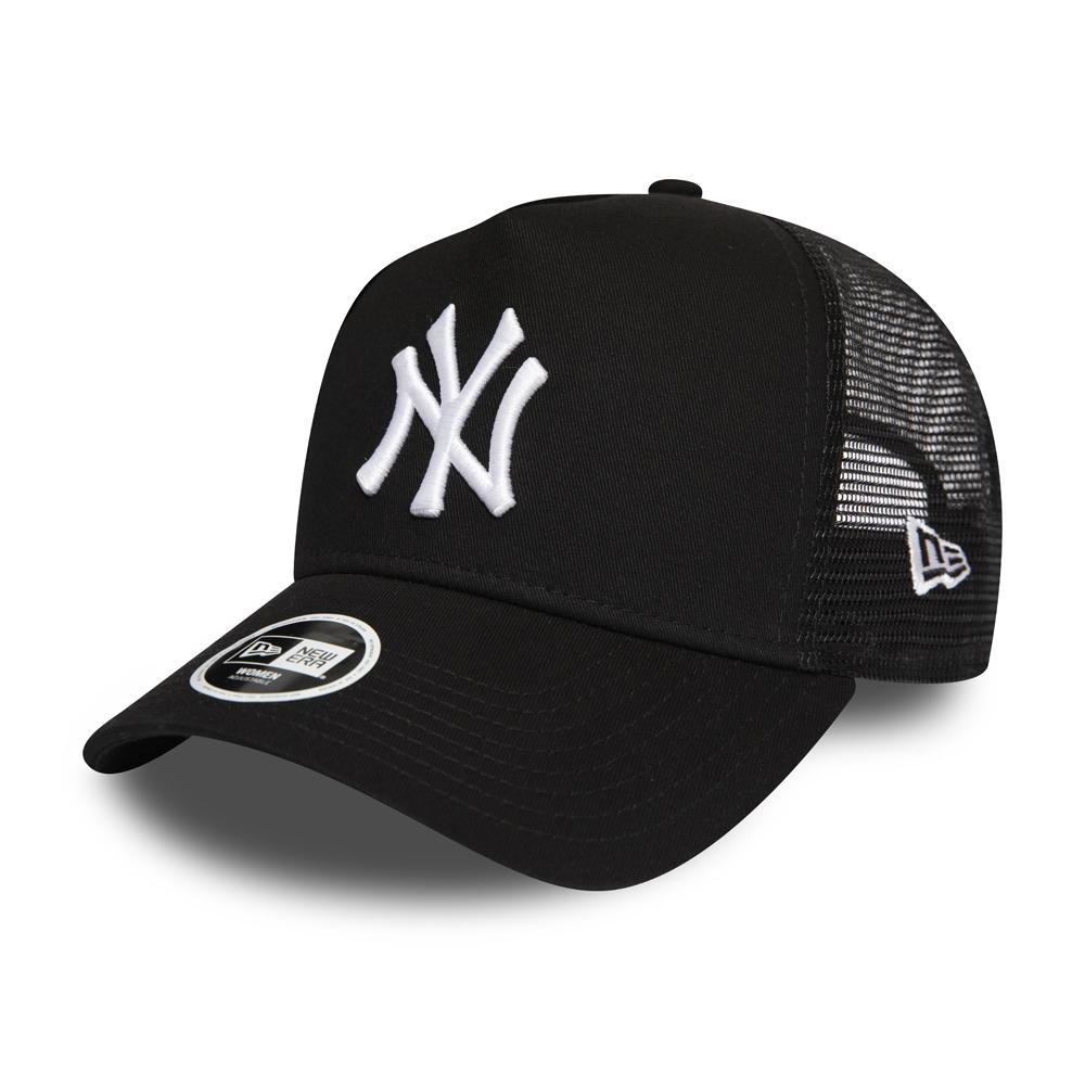 4e0c86016f29f1 New York Yankees Essential Womens Black A Frame Trucker