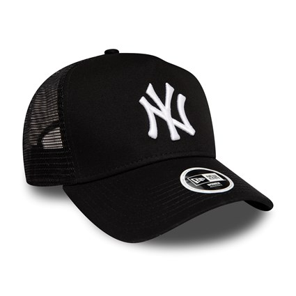 New York Yankees Essential Womens Black A Frame Trucker