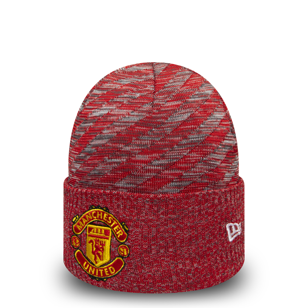 Bonnet à revers Manchester United rouge