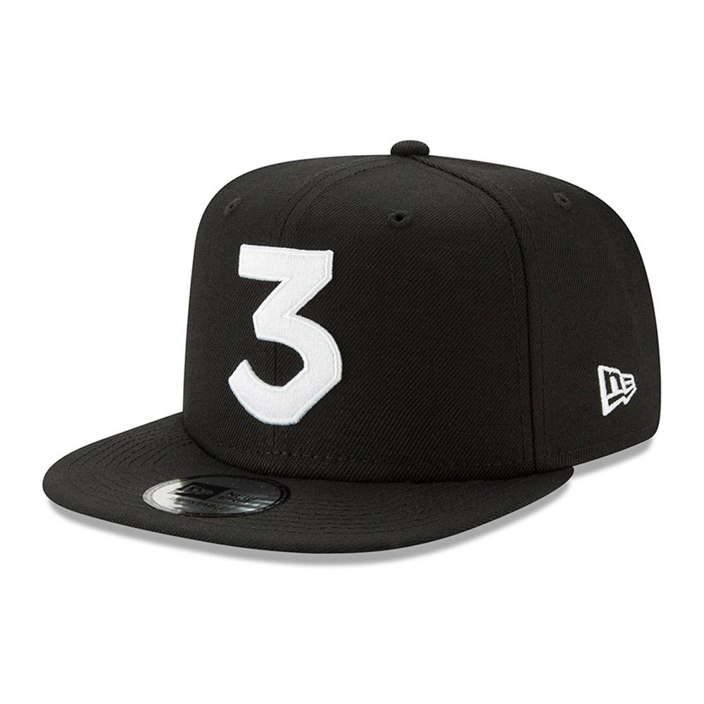 Cappellino con chiusura posteriore New Era X Chance The Rapper modello 9FIFTY in nero