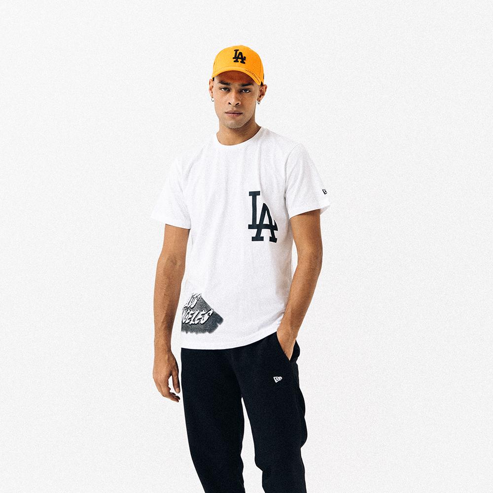T-shirt Los Angeles Dodgers graphique blanc
