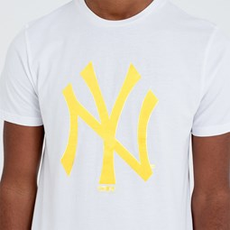 New York Yankees Yellow Neon Logo Tee