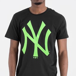 New York Yankees Green Neon Logo Tee