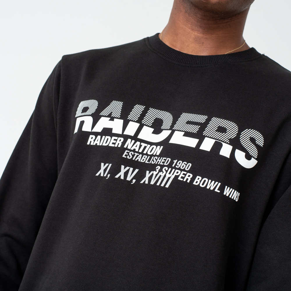 Ras du cou Oakland Raiders Slogan noir
