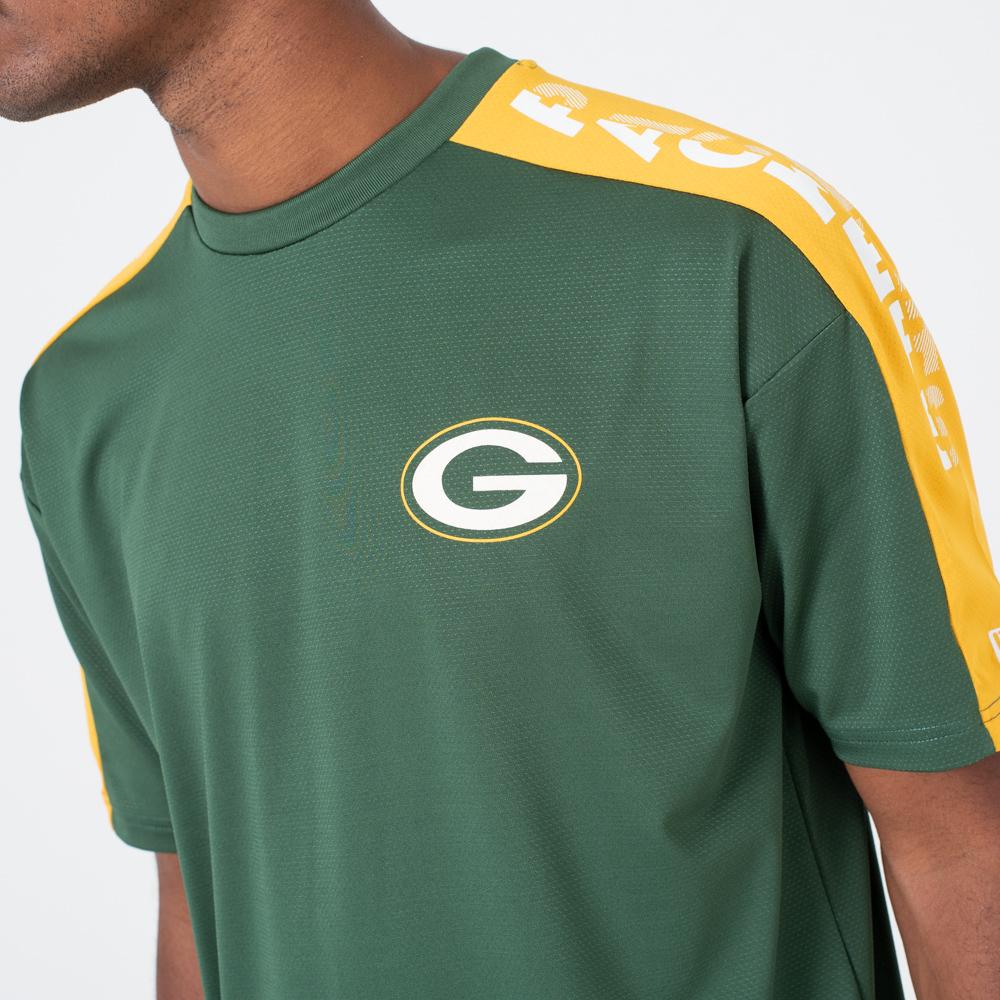 release date 3017f 31374 Green Bay Packers Oversized Shoulder Print Tee | New Era