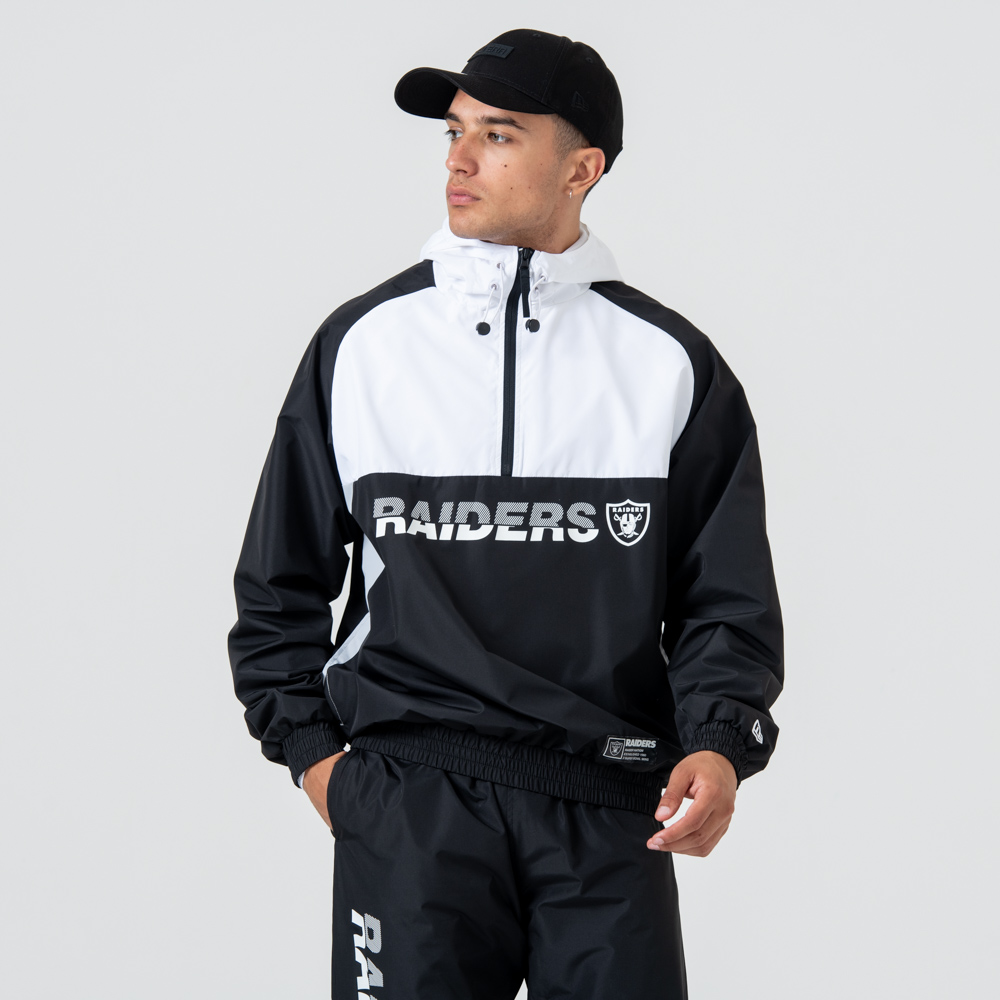 Veste coupe-vent à capuche Oakland Raiders Colour Block
