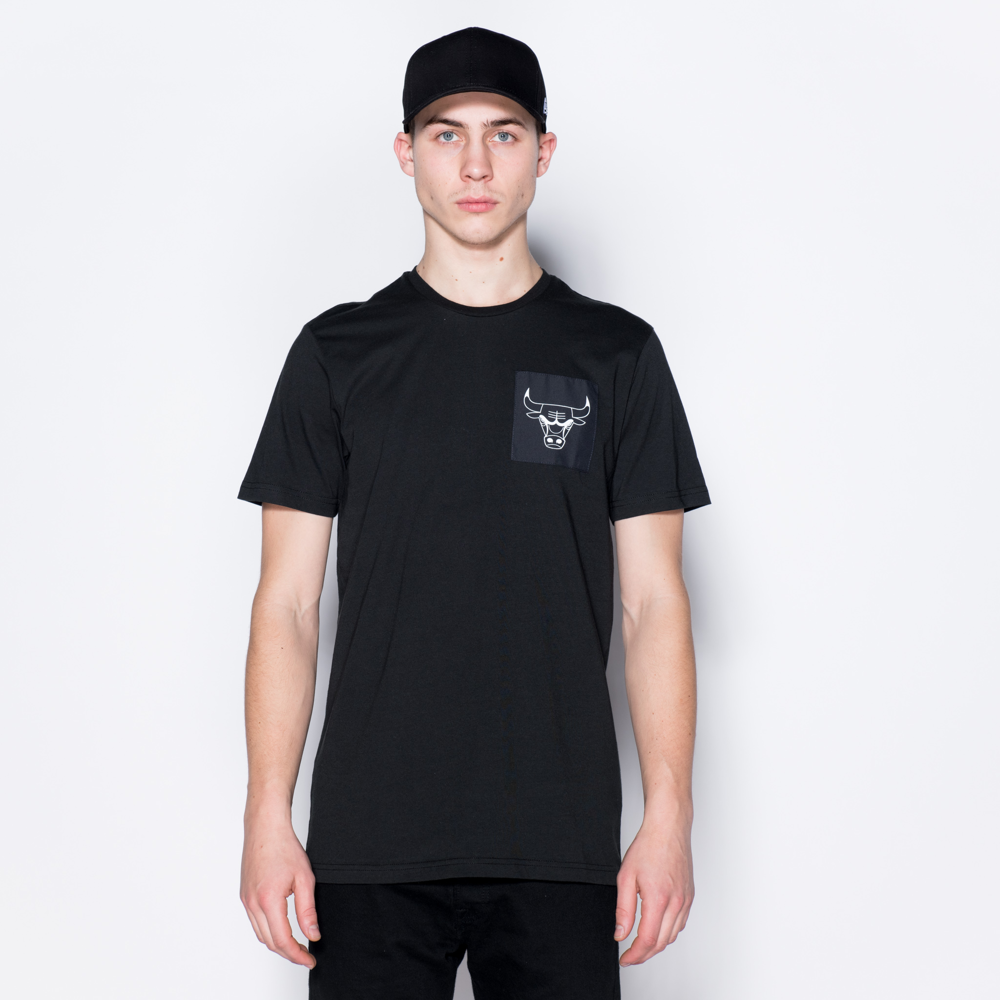 T-shirt Chicago Bulls Logo noir