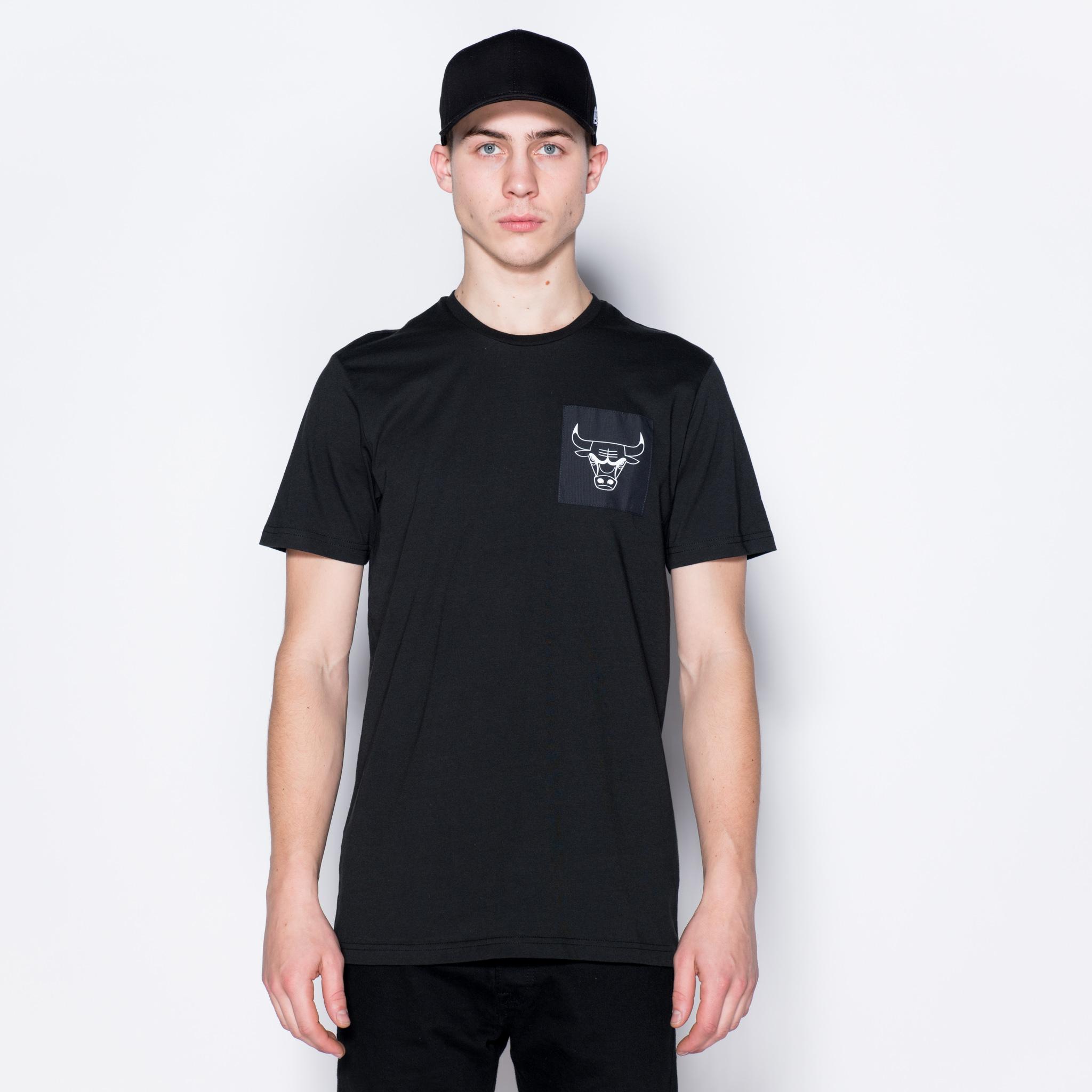 Chicago Bulls – T-Shirt mit Logo – Schwarz