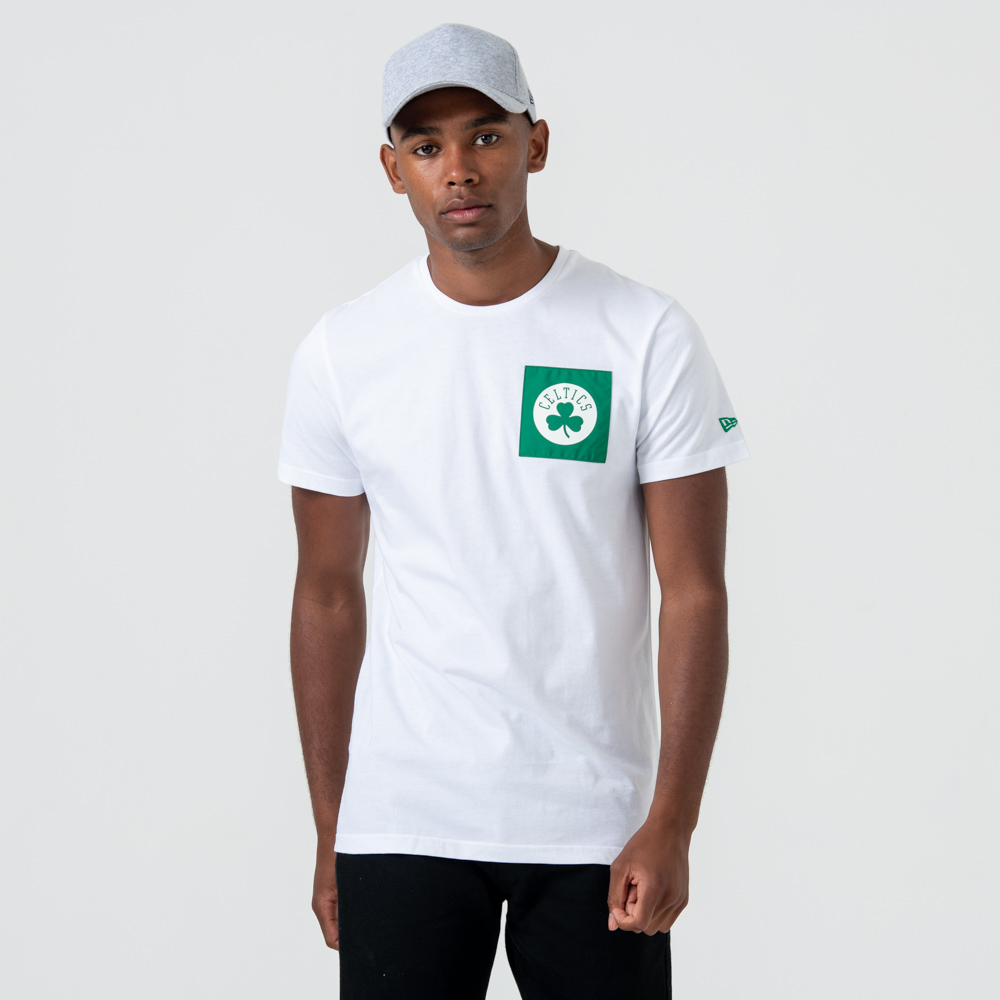Boston Celtics – T-Shirt mit Logo – Weiß