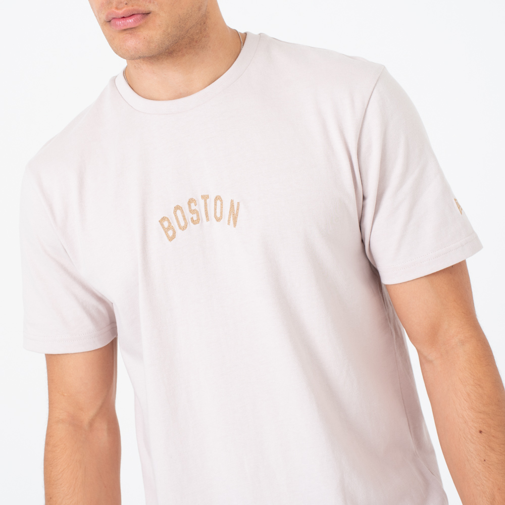T-shirt Boston Red Sox Vintage Script grège