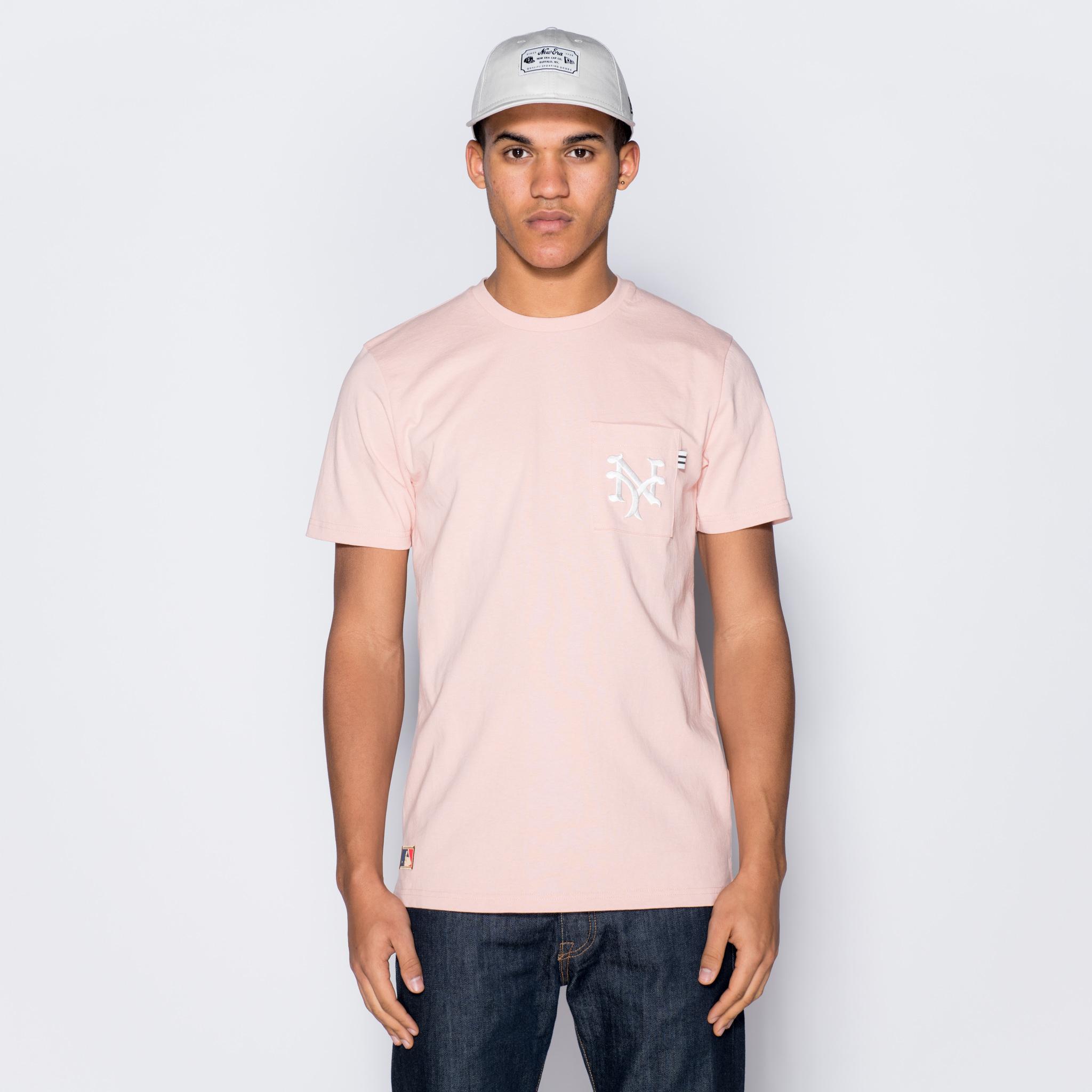 Camiseta New York Giants Vintage Pocket Logo, rosa