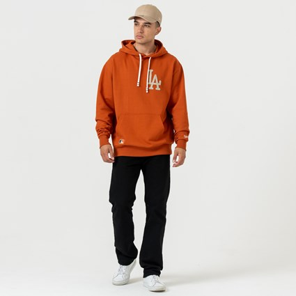 Los Angeles Dodgers Vintage Large Logo Rust Hoodie