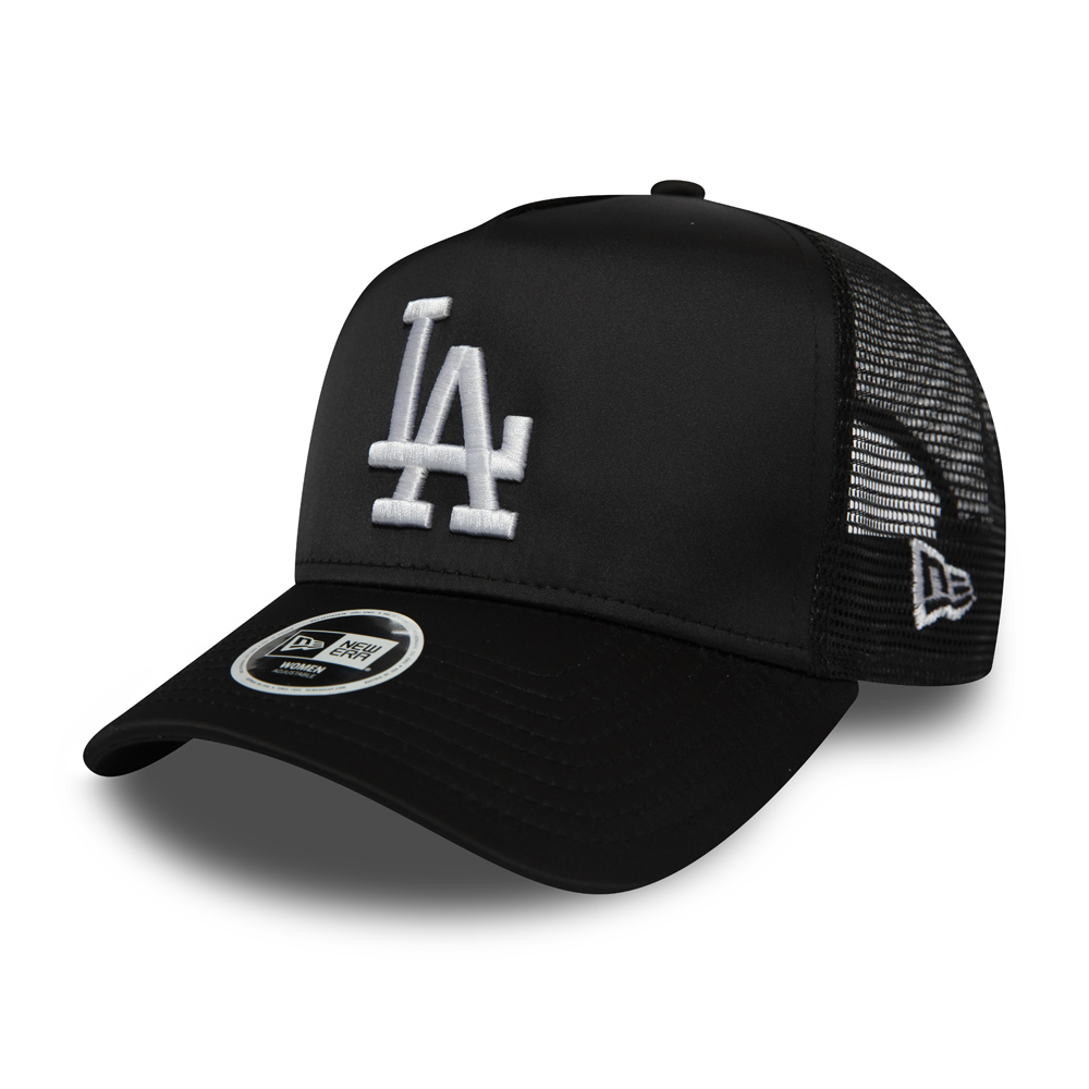 Los Angeles Dodgers Satin A Frame Trucker noire femme