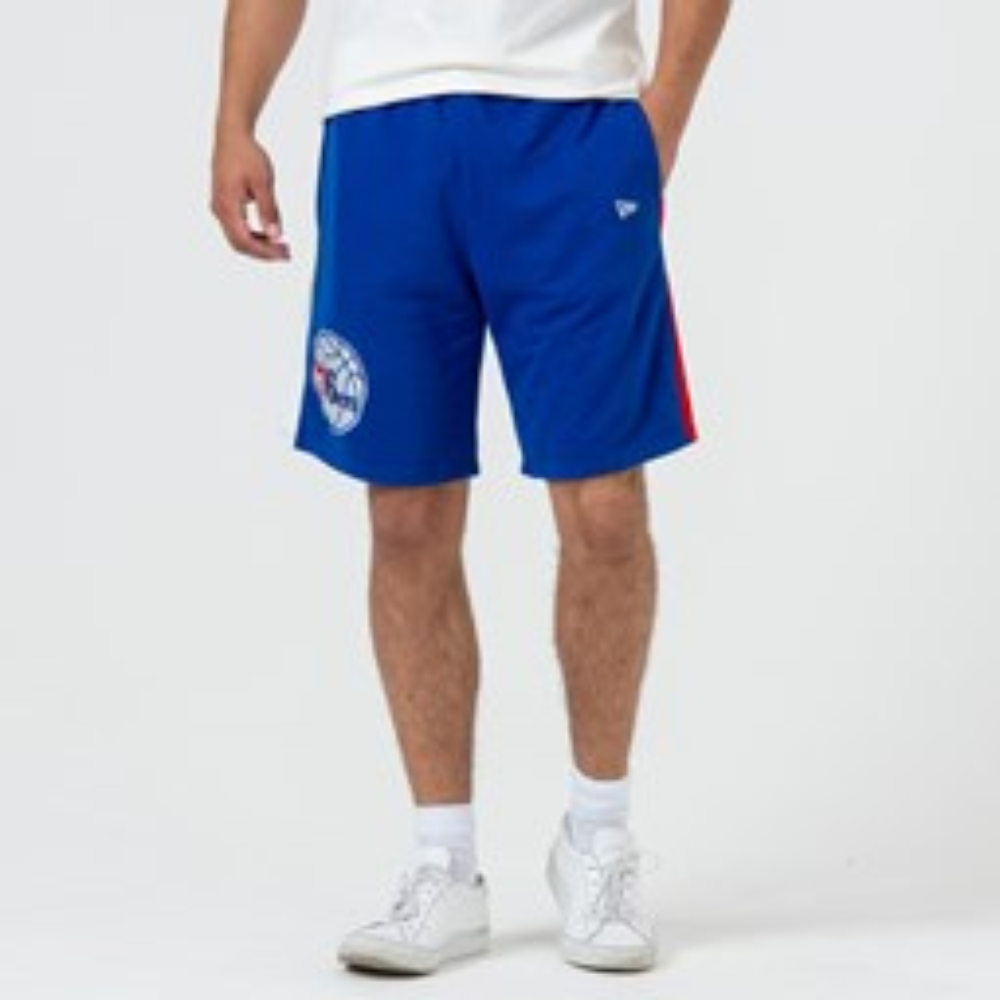 Short rayé Philadelphia 76ERS bleu