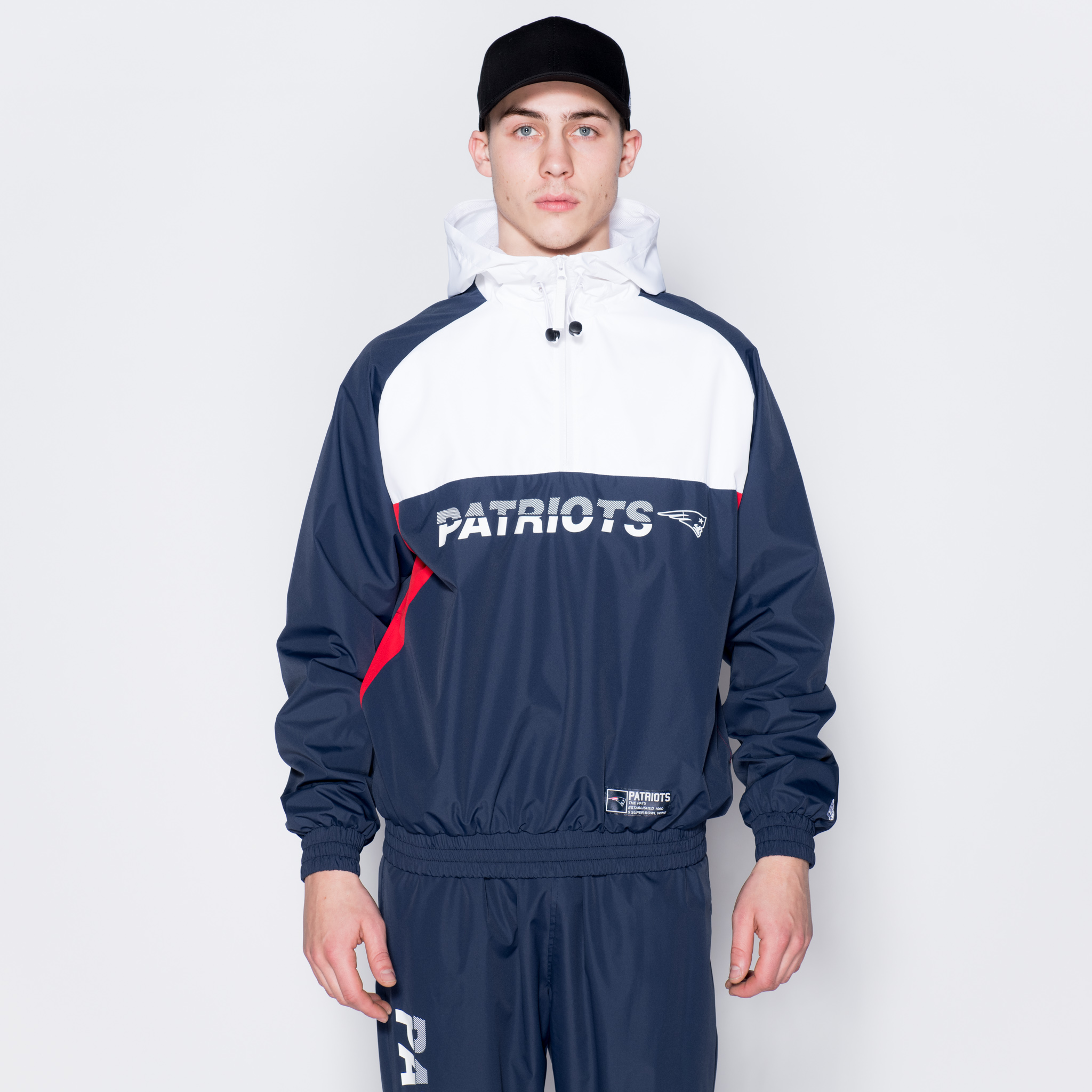 Cortavientos New England Patriots Colour Block